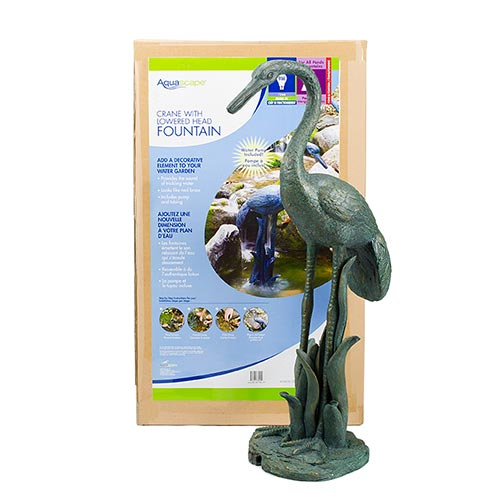 Aquascape Crane with Lowered Head Fountain