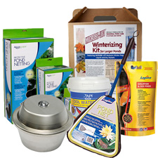 Fall & Winter Pond Supplies, Fish Food, Netting, Aeration, Deicers