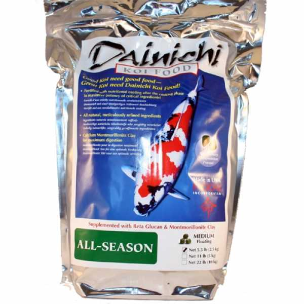 Dainichi All Season Koi Food, Medium Pellet 5.5 lbs