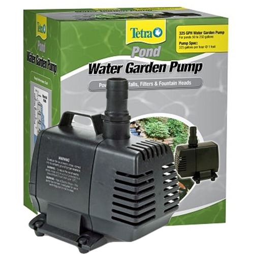 Tetra water garden pump 325 gph best prices on for Best water pump for pond