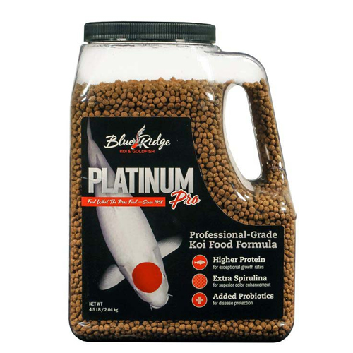 Blue ridge platinum pro fish food 4 5 lb best prices on for Professional fish keepers
