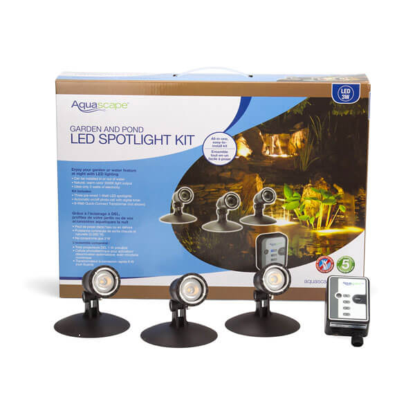 led pond and landscape spotlight kit 3 x 1 watt lights mpn 84030