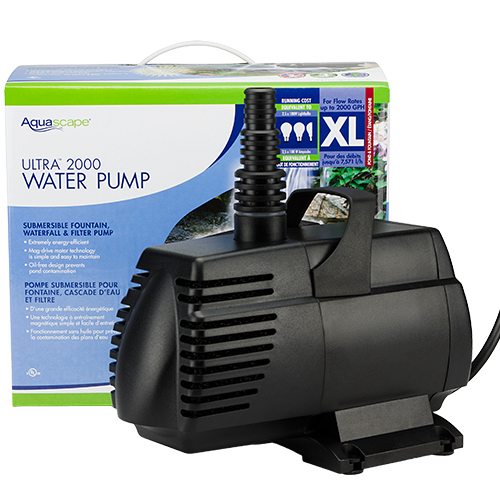 Aquascape ultra pump 2000 gph mpn 91010 best prices on for Best water pump for pond