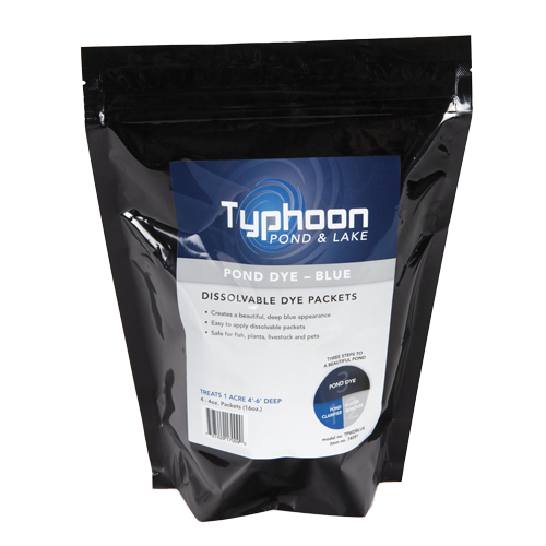 Atlantic Typhoon Pond Dye - Blue  - (4) 4oz WS Packs (MPN TPWDBLU4)