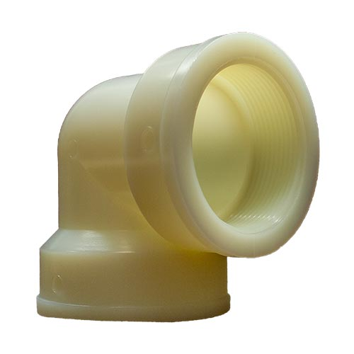 "White 90° Elbow 2"" FPT x 2"" FPT"