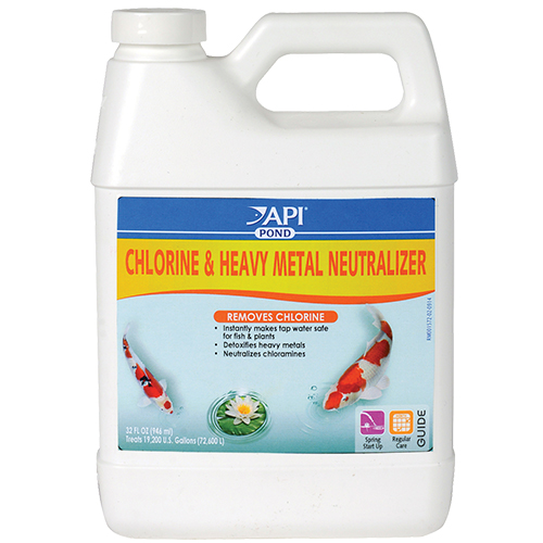 API Pond Chlorine & Heavy Metal Neutralizer 32 oz. (MPN 141 G)