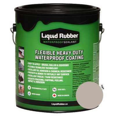 Liquid Rubber Waterproof Sealant Tan 1 gal