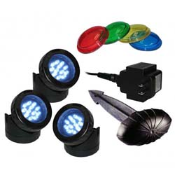 Alpine Luminosity LED 3 Pack Light with Photocell & Transformer (MPN LED312T)