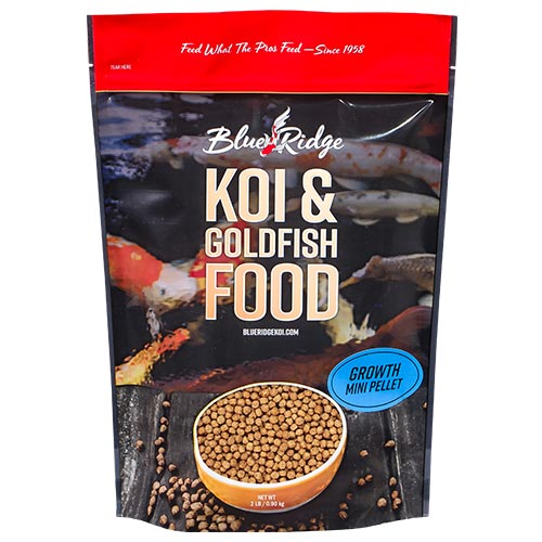 Blue Ridge Floating Mini-Pellet Growth Fish Food 2 lbs