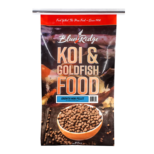 Blue Ridge Floating Mini-Pellet Growth Fish Food 25 lbs