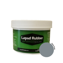 Liquid Rubber Waterproof Sealant Dark Grey 8 oz.