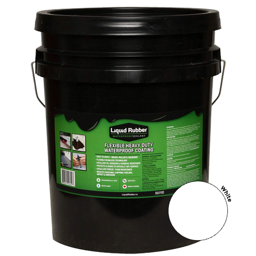 Liquid Rubber Waterproof Sealant White 5 gal