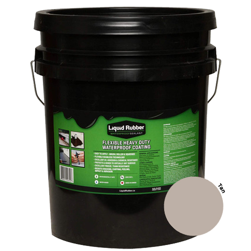 Liquid Rubber Waterproof Sealant Tan 5 gal (MPN 13007)