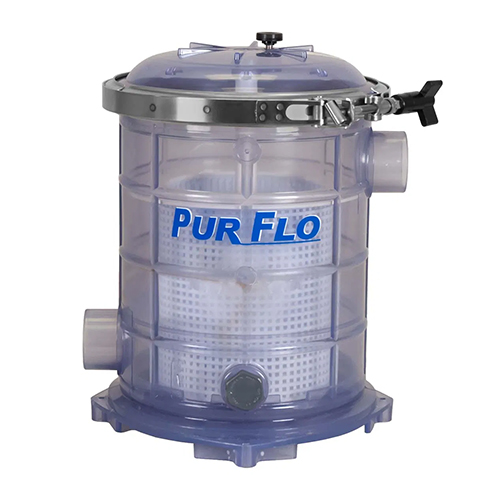 "Sequence PurFlo Strainer 500 Cubic Inch 2"" Ports Clear (MPN 24170488)"
