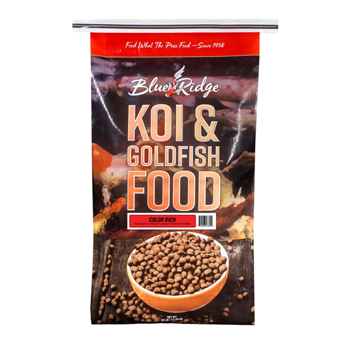Blue Ridge Floating Color Rich Fish Food 25 lbs