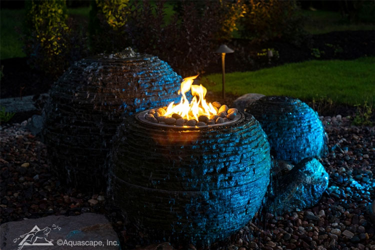 Aquascape Fire and Water Stacked Slate Sphere - Medium (MPN 58093)