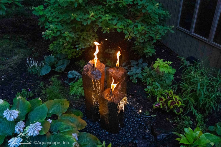 Aquascape Fire and Water 3-Piece Basalt Torch System (MPN 58103)