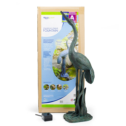 78008 - Aquascape Standing Crane Fountain w/pump (MPN 78008)