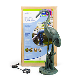 78009 - Aquascape Crane with Lowered Head Fountain w/pump (MPN 78009)