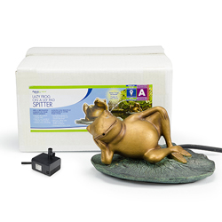 78017 - Aquascape Lazy Frog on Lily Pad Fountain w/pump (MPN 78017)