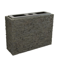 Aquascape Large Straight Stacked Slate Wall Base (MPN 78278)