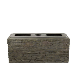 Aquascape Small Straight Stacked Slate Wall Base (MPN 78279)