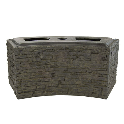 Aquascape Small Curved Stacked Slate Wall Base (MPN 78283)