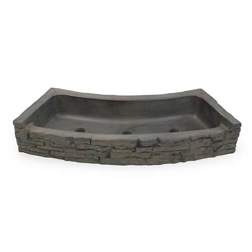 Aquascape Rear-Spill Curved Stacked Slate Topper (MPN 78285)