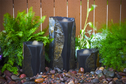 "Aquascape Double Textured Basalt Cored Water Columns 18"", 13"", 20"" (MPN 98548)"