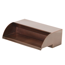 "Atlantic 12"" Copper Finish Scupper (MPN CS12)"