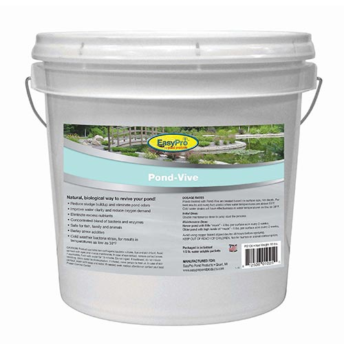 Easy Pro Pond-Vive Bacteria - 10lb pail - 20ct. 8oz Water Soluble Packs (MPN PB10X)