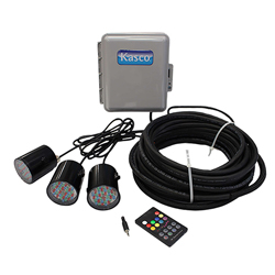 Kasco WaterGlow RGB LED Lighting for ½-1 HP Fountains 100 ft. Cord (MPN RGB3C5-100)